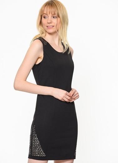 Fermuar Detaylı Dar Elbise-Only